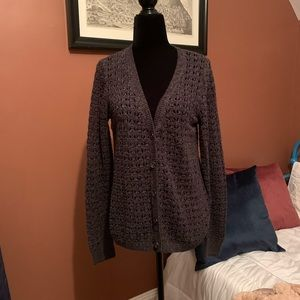 DKNY crochet / knit cardigan